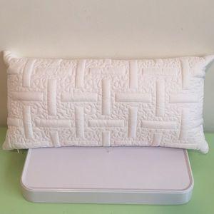 "DKNY Home Decorative throw Pillow 11"" x 22"" white"